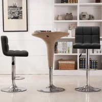 This product has a function: 360 °smooth swivel with bonded leather seat, constructed with a polished chrome base and footrest. Modern style and padded bar stool bring you comfortable and enjoyable user experience. Ideal home bar stools for your kitchen, living room, dining area, add contemporary atmosphere your home.