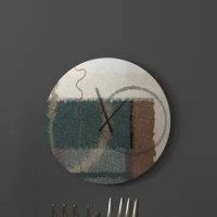 This wall clock is perfect for any room. The textures and colors used to convey a sense of artistic mastery.