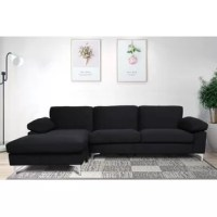 Futon couches are ideal for a chic modern accent. The overall shape is simple and classic, modern design with a luxury look, which is a perfect complement to the living room. An extra-wide chaise lounge for maximum comfort, the spacious sofa provides you and your guests with ample seating space.