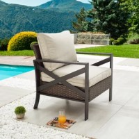 This unique X-shaped armrest collection was designed for stability and aesthetics. The modular design enables the purchase of each individual piece so that you can customize and create your own patio furniture set.