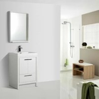 This vanity collection brings home the advantages of both modern and traditional vanity styles: well-crafted modern conception giving you the same feel of any fashionable floating vanity design and skirted construction allowing for the most amount of storage space required for any bathroom.
