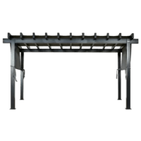 Relax and enjoy the outdoors with this elegant pergola. With its adjustable mesh roof, you can choose the desired length or completely remove it for a different effect. Its aluminum structure is maintenance-free and will last for years to come. The item is a great compliment to any backyard or garden and is perfect for any event, big or small.