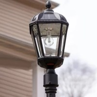 The Alcott Hill Rasberry solar powered 1 light post light is a single lamp head that can be placed on any outside diameter pole or pier/flat base. It is a rust-resistant, cast-aluminum solar lantern that features an attractive 19th-century lamp design and has now been integrated with their latest revolutionary technology: a patented outdoor solar LED light bulb. This solar light will add style and distinction wherever it's installed. Easy to install and provides ample light this solar light is...