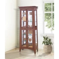 Philip Reinisch Company presents the Lancaster III Lighted Curio Cabinet in chestnut finish. Power style and power value are apparent from every aspect of this cabinet. From the american casual arts and crafts design to the state-of-the art led lighting. This cabinet is prefect for displaying accents for your home or your most precious treasures.