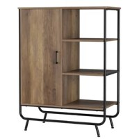 Stylish Design with warm natural wood tones and retro features, this versatile cabinet will bring a modern furniture design style to your whole room. It will not only fit well with different furniture styles, but also meet your various storage needs. The divided storage feature makes your stuffs more organized. The open display shelves help to organize and display your books and other decorations for easy fetch; The concealed storage area with shelf can maintain your items clean and dry while...