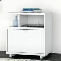 A perfect choice for home offices, the single drawer filing cabinet opens on smooth full-extension ball-bearing slides for an effortless reach to legal, letter and A4-size paperwork. Two open shelves provide a convenient place for books and decorations, and the back panel includes a built-in wire management grommet to accommodate electronics. The surface can also be used to brighten up the room with your favorite pictures and decor.