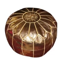 Fashionable and functional, this pouf can be used as an ottoman or casual seating and makes an elegant decor accent.