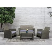 Sale Amesbury 4 Piece Rattan Sectional Seating Group Sofa Seating Group With Cushions Ik Haberdasher Se