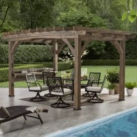 One of the newest products of our series! The product gives you plenty of space to entertain and serve. The two-tiered arched serving station and roof trellis designs will give your backyard the style that's been missing. Don't forget the lights!