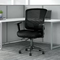The stylish and durable mid-back multifunction executive chair provides all the adjustable features you need without the high-end price tag. Four easy-to-use levers instantly set the angle of the seat and back as well as the height and depth of the seat to accommodate all users. A tension knob located underneath the seat turns to adjust the rate and ease of recline to give the desk chair a more personalized feel. The ergonomically contoured backrest includes cushioned lumbar support and can...