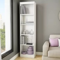 Ideal for your binders, books, or decorative items, this versatile 5-shelf bookcase can meet all your storage needs, even in tight spaces. Both functional and attractive with its sleek contemporary styling, this bookcase is sure to enhance the look of any room in your home. 5-year limited guarantee  All our products meet or exceed North American safety standards and our packaging is tested and certified to reduce the risk of damage during shipment. This item is shipped in 1 box, make sure to...