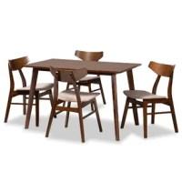 Aquilar 5 Piece Solid Wood Dining Set