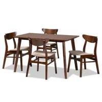 Araiza 5 Piece Solid Wood Dining Set