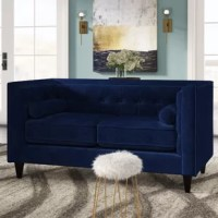 This stylish loveseat offers space to seat two for cocktail parties and cozy movie nights alike. This piece is a posh addition to any living room look.