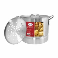 Enticing soups, rich sauces, mouthwatering seafood, and perfect pasta are all great reasons to need a stockpot. Versatile and necessary, this stockpot workhorse comes in handy for all your cooking needs. Visually, this professional-looking cookware will go nicely many different kitchen styles.