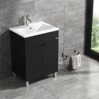 This modern bathroom vanity has large storage capacity and high cost performance. Black finish is the top color choice for many of bathroom renovation and suit any bathroom style. You can get it done easily following the installation instruction. Its luxury design will surely brighten your bathroom and add value to your property.