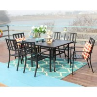 Stylish modern metal slat top and metal frame design makes the table sturdy and polished elegantly chair the chair height and radian of backrest and seat is good for reducing muscle tension and stress.