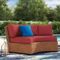 Give your patio or deck seating ensemble a refresh for the season with this eight-piece outdoor cushion cover set. Including two curved armless cover sets (each 6'' thick), it's ideal for a variety of sofas, sectionals, and arm chairs. Designed to live outdoors, these cushions are crafted from weather-resistant acrylic, so they can stand up to UV light beaming down and rainstorms rolling through. Plus, they feature a solid hue for versatility. This set includes covers only, no fills.