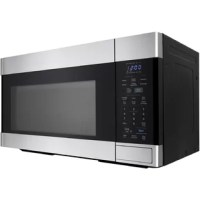 The over-the-range microwave oven is a contemporary and stylish addition to your dream kitchen. With edge-to-edge stainless steel, black glass, and discreet branding, this oven pairs beautifully with other stainless steel appliances. The easy-to-read, cool blue display and gray interior with bright white LED lighting are elegant finishing touches for your modern kitchen. This oven is ready to cook your family's meals, and the Carousel glass turntable ensures even and effective cooking. The...