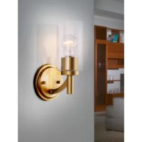 This Giovanny 1-Light Armed Sconce combines a traditional look with chic, modern charm. With its chrome finish and clear round glass shade, it adds a layer of today's style to your interior design.