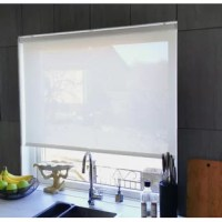The Slow Raising Semi-Sheer Roller Shade is cordless, child and pet-safe, certified per WMCA