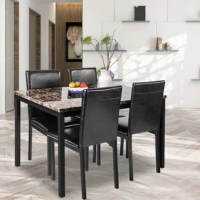 Albon 5 Piece Dining Set