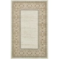 Perfect for softening hardwood floors while they lend your space a decorative touch, an area rug is a great way to put the finishing touches on a room or stage an ensemble. Take this rug, for example: perfect for an understated look, it features a border with a Greek knot motif. Woven in Turkey from polypropylene, this rug is a stain, fade, and water-resistant, making it a great option for standing up to regular use (and occasional spills) in busy rooms. A low, 0.16'' pile height helps make...