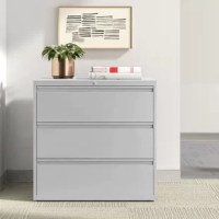Put an end to a cluttered desk with a filing cabinet like this one! Crafted in the USA from steel, this piece features a streamlined design perfect for a contemporary feel in your office. Three fully extendable drawers allow you to easily stash documents, notebooks, and more. Two of the drawers can also be locked, so sensitive papers can stay tucked away. Best of all, this cabinet arrives fully assembled, so there's no need to sweat over putting it together! A limited lifetime warranty protects...