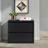 Tired of looking through stacks of papers on your desk to find the one thing you need? Get organized with a filing cabinet like this one! Crafted in the USA from metal with a streamlined design, it features five fully extendable drawers that accommodate both legal- and letter-size documents, so you can easily tuck away your files, no matter the size! Two of the drawers are also lockable, so papers you would rather remain private is as easy as turning a key. This piece doesn't require assembly...