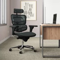 Whether this conference chair is stationed in the computer lab or at your personal desk, it's sure to lend some support. The padded seat, headrest, and mesh back work together to offer an inviting aesthetic that's made for up to eight hours of use. It rests on five included caster wheels and features a full swivel to maximize your mobility, while its adjustable seat height lets you tailor it to your preference. Plus, it's backed by a lifetime warranty.