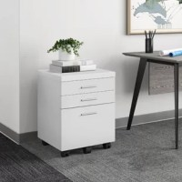 The Barnaton 3-Drawer Vertical Filing Cabinet easiest way to corral clutter in the office? Incorporating this file cabinet. Crafted from manufactured wood, it sports a clean-lined design that works well in a variety of aesthetics, while the wood grain details create some lived-in appeal. Perched on locking wheels, you can move this cabinet with ease and park it wherever you prefer. Its three drawers provide plenty of space to tuck away loose odds and ends, as well as letter-sized documents.