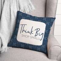 Show your appreciation for local small businesses with this throw pillow. Designed and printed in the United States, this throw pillow makes a great gift for your favorite local business.