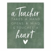 Show your appreciation for teachers with this piece of wall art. It came printed on professional grade tightly woven canvas with durable construction and finished backing as Makes an excellent gift for that individual teacher in your life.
