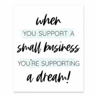 Show your appreciation for local small businesses with this piece of wall art. It came printed on professional grade tightly woven canvas with durable construction and finished backing as Makes an excellent gift for your favorite local businesses.