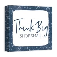 Show your appreciation for local small businesses with this piece of wall art. It comes printed on professional grade tightly woven canvas with durable construction and finished backing. Makes a great gift for your favorite local businesses.