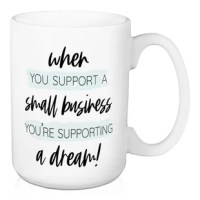 Stylishly drink your coffee, tea, or cocoa in this ceramic profession of gratitude inspired 15 oz Mug designed and printed in the USA. The mug features a full wrap print and a large handle for easy gripping. Ceramic mug is dishwasher and microwave safe.