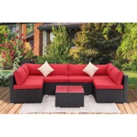 Arrange the sofas however you like! The 6 sofa chairs, table, and can be arranged in a variety of ways to accommodate different spaces – from your patio to the backyard or poolside.