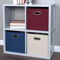 Say goodbye to unsightly clutter with the John Louis Home Solid Wood 4 Cube Storage Organizer. This attractive shelving unit features 4 open back cube compartments (11.5in x 11.75in x 12in). Choose how many John Louis Home storage bins you need to customize your cube system to fit your exact needs. Further, this unit is stackable and can be combined with a second 4 cube organizer or the larger 9 cube organizer for custom configuration. From storing away toys and books, to blankets and clothes...