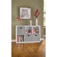 The Decorative Storage Cube Bookcase from ClosetMaid takes storage and organization to the next level. Add one of these stylish pieces to any room of your home for a quick, easy, and attractive organizational solution! Go ahead, show off your storage!