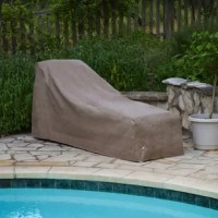 The KoverRoos® chaise cover is the ultimate in furniture protection. The material, design, and construction are simply the best on the market. Outdoor furniture covers need to breathe so that moisture can escape, keeping mold and mildew from developing under the cover. Koverroos® use technologically advanced materials that are one-way breathable - so moisture can evaporate right through the fabric, but water, dust and dirt can't get in. Koverroos® covers are stronger than most vinyl covers...