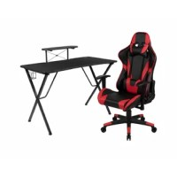 Set yourself up to put on a performance at your new gaming computer desk set with a racing gaming chair. This gaming desk and chair set will put you ahead of the game world with its ultra-comfortable headrest and lumbar pillows that can be adjusted or removed. With a reclining office chair that reclines 87 Degree ~ 145 Degree with a pull of a lever, you're positioned to take down any opponent. If you're on the market to upgrade your old desk and chair set or you've gotten into gaming more and...