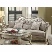 Give a grand welcome to your guests with an antique sofa. This sofa has a button tufted fabric back design for a traditional home. Thanks to the sturdy frame, this sofa is strong and durable. With the loose seat cushion, it will ensure that you enjoy a comfortable seating experience as always. This classic country style sofa set is delightful and attractive in your living room.