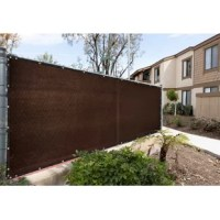 Tired of your neighbor's dog barking at your kids or your neighbor spying on you? Protect your privacy with color tree privacy fence screens, built with care and made of 170 GSM 100% non-recycled high-density polyethylene (HDPE), reinforced stitched edges with bindings, and durable anti-rust brass grommets. Their fence screens are proven to hold up strong through wind, sun, and rain while providing 90% visibility and 93% UV blockage. Installation is simple with zip ties and a generous amount of...