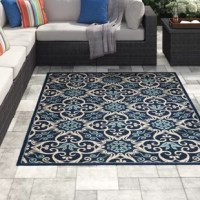 Attractive enough for interior spaces with enough muscle to withstand the elements, hardworking indoor/outdoor rugs bring the best of both worlds home. Crafted from stain-, fade-, and moisture-resistant polypropylene, this rug stands up to heavy foot traffic in entryways, patios, and beyond without shedding. Made in Turkey, this design features an intricate, floral-inspired motif with a 0.25'' high pile.