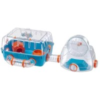This is a hamster cage that combines comfort with fun and exercise! It is made of plastic with a transparent roof and has a useful mesh grid on top to ensure internal ventilation, which is also guaranteed by the special slots on the side walls. Connected to the cage, you will find Gym, a real gym that will allow your hamster to keep fit. Thanks to the clips on the sides, the bottom can be completely detached from the top, a simple action that makes cleaning quick and easy. Like many other...
