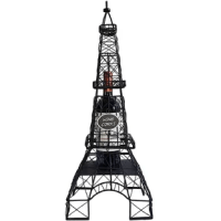 Designed after the iconic Eiffel Tower, this wine cork and bottle holder is sure to be the center of attention when displayed. Featuring durable metal construction, this cage is as functional as it is visually appealing. Either drop in corks from the top lid, or unhitch the middle section and place in your keepsake wine bottle. Makes a wonderful gift or centerpiece.
