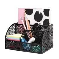 Mesh Desk Organizer Office has 7 Compartments including Drawer, Desk Tidy Candy, Pen Holder, Multifunctional Organizer