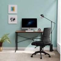 Find the motivation you need to tackle all your big projects when you give your home office the charming good looks and functional design of this desk. This desk comes with simple construction to create an attractive look and feel, goes well with your personal taste and interior decor. And the swivel chair features a curved mesh back and stable base that provides enough support and comfort and offers you a comfortable seating experience. Enjoy your work at this desk and chair set!