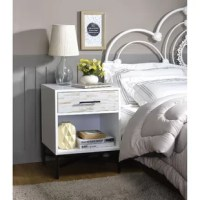 Anchor your contemporary bedroom with this nightstand. The single drawer is great for holding your books, reading glasses, and other small items, while the open shelf can be used for magazines or decorative items.