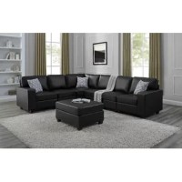 This Modular Sectional with Ottoman is the unique design for all sofa lovers who would like to build, mix, and match for their own preference. It really benefits the person who would like to build and fit into the desired space. It is built with quality material for lasting use.